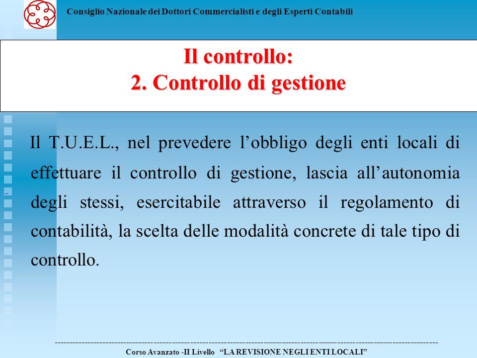 Il controllo:2. Controllo di gestione.