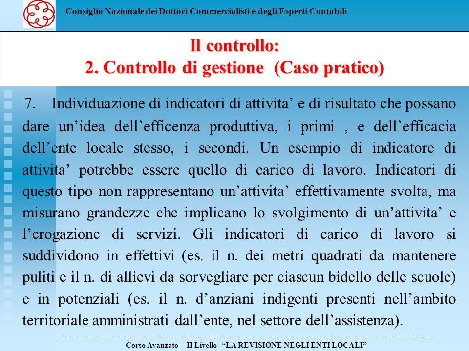 2. Controllo di gestione (Caso pratico)