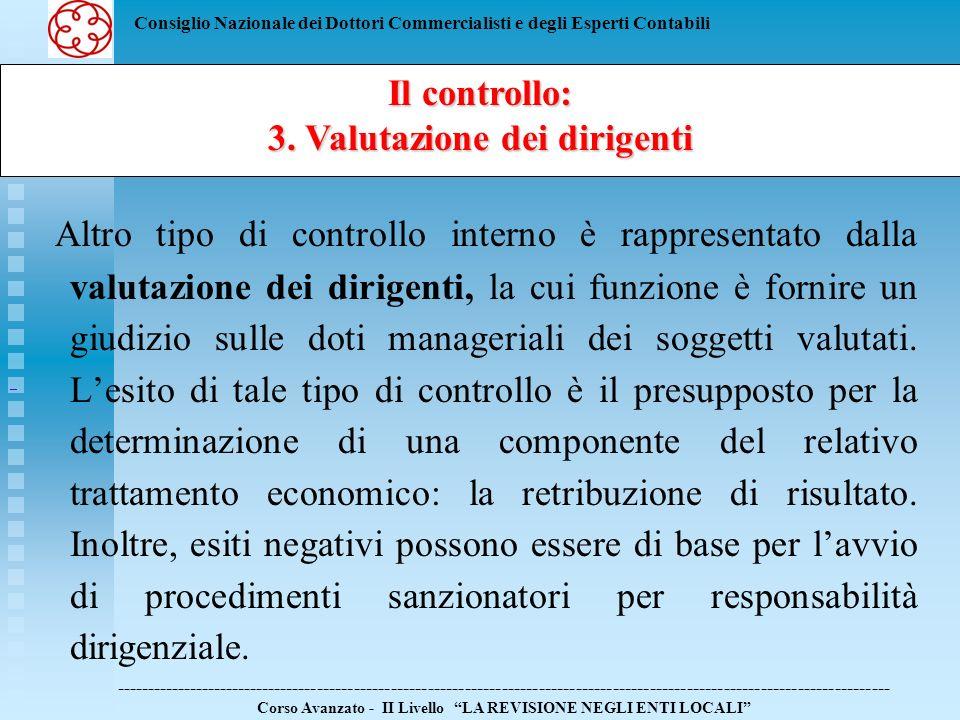 3. Valutazione dei dirigenti