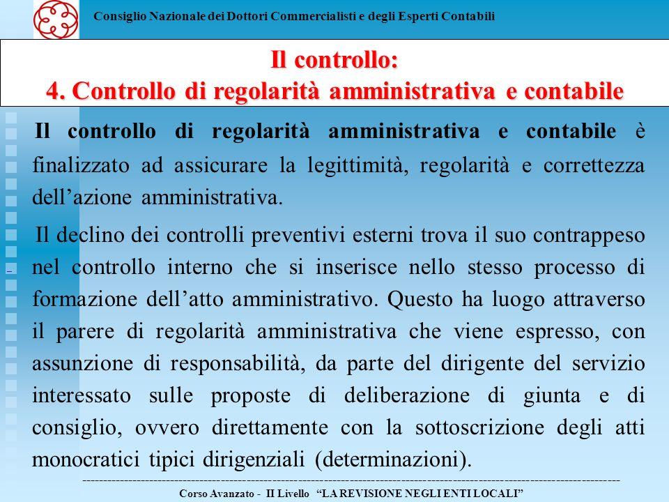 4. Controllo di regolarità amministrativa e contabile