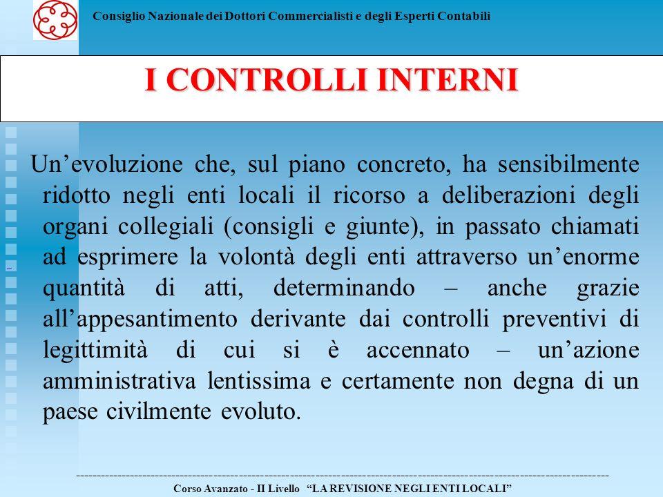 I CONTROLLI INTERNI