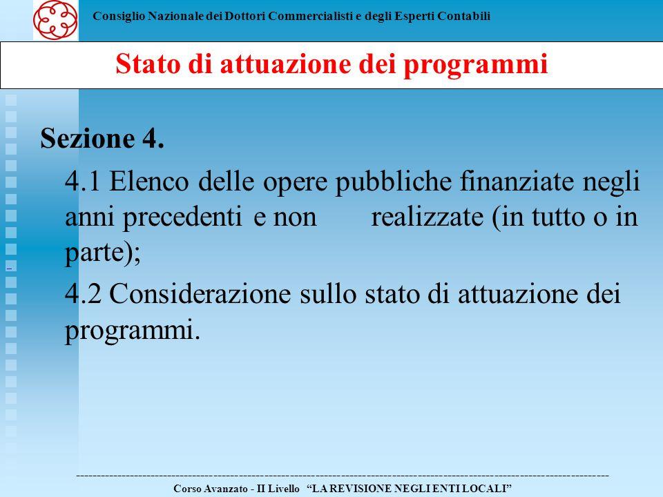 Stato di attuazione dei programmi