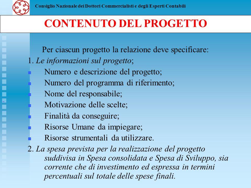 CONTENUTO DEL PROGETTO
