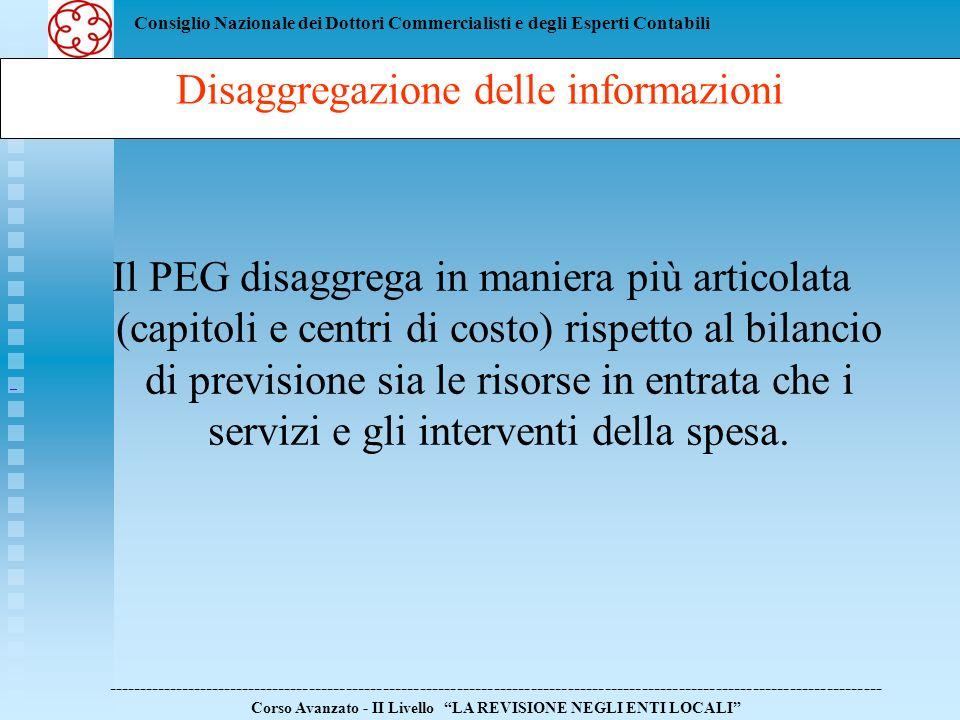 Disaggregazione delle informazioni