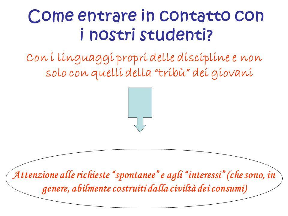 Come entrare in contatto con i nostri studenti
