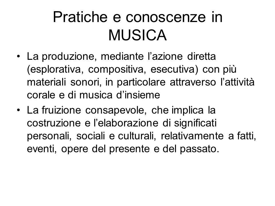 Pratiche e conoscenze in MUSICA