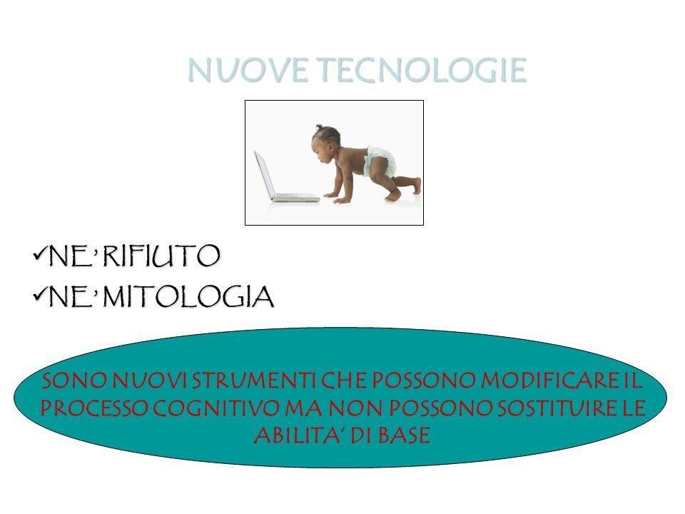 NUOVE TECNOLOGIE NE' RIFIUTO NE' MITOLOGIA
