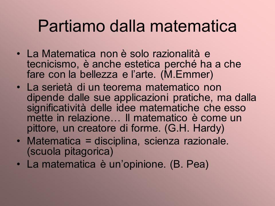 Partiamo dalla matematica