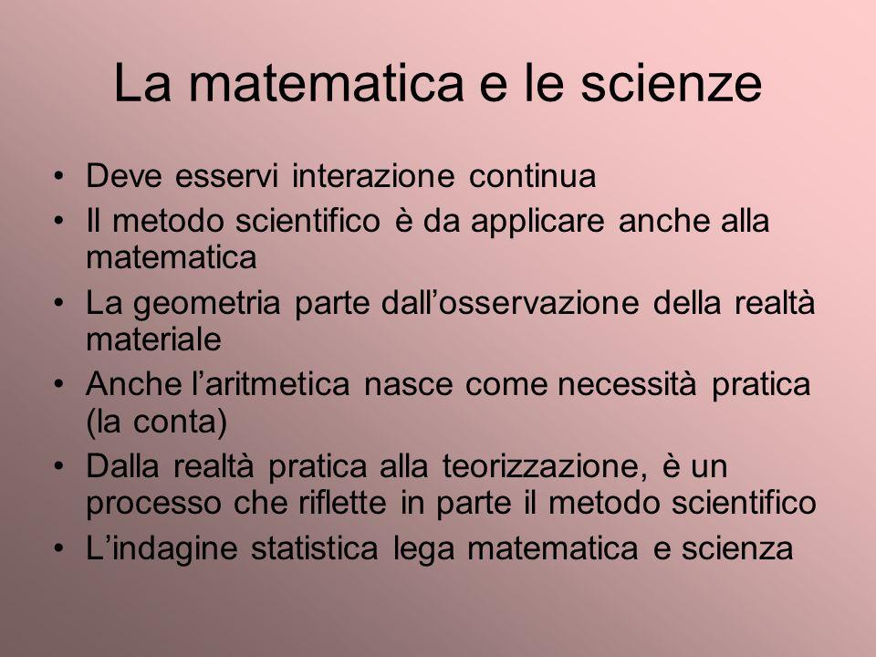 La matematica e le scienze