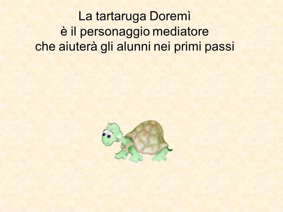 La tartaruga Doremì è il personaggio mediatore che aiuterà gli alunni nei primi passi