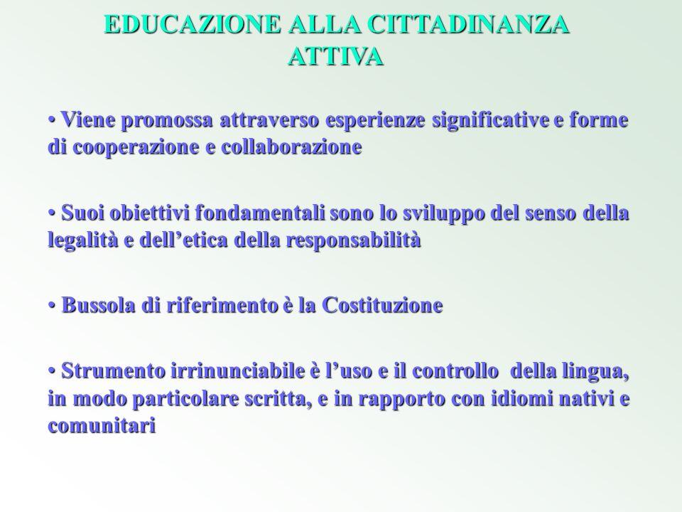 EDUCAZIONE ALLA CITTADINANZA ATTIVA