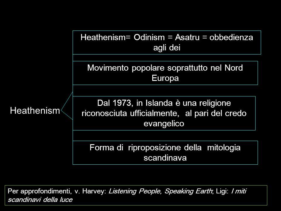 Heathenism Heathenism= Odinism = Asatru = obbedienza agli dei