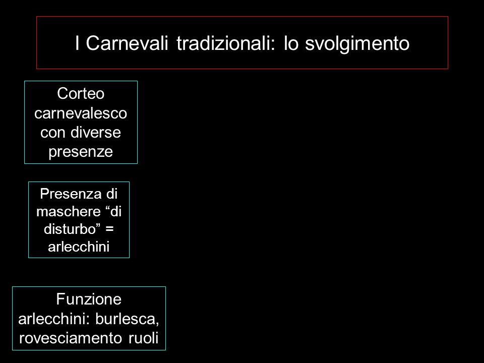 I Carnevali tradizionali: lo svolgimento