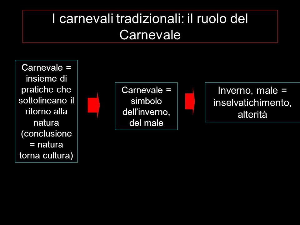I carnevali tradizionali: il ruolo del Carnevale