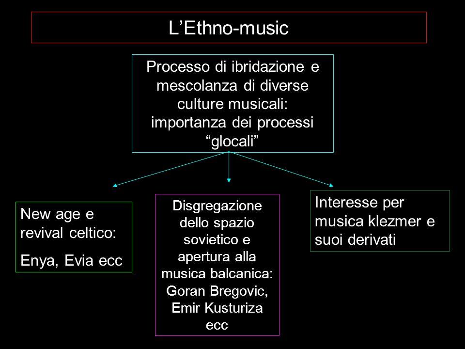 L'Ethno-music Processo di ibridazione e mescolanza di diverse culture musicali: importanza dei processi glocali