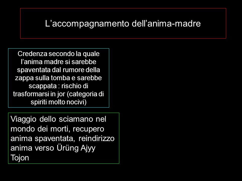 L'accompagnamento dell'anima-madre
