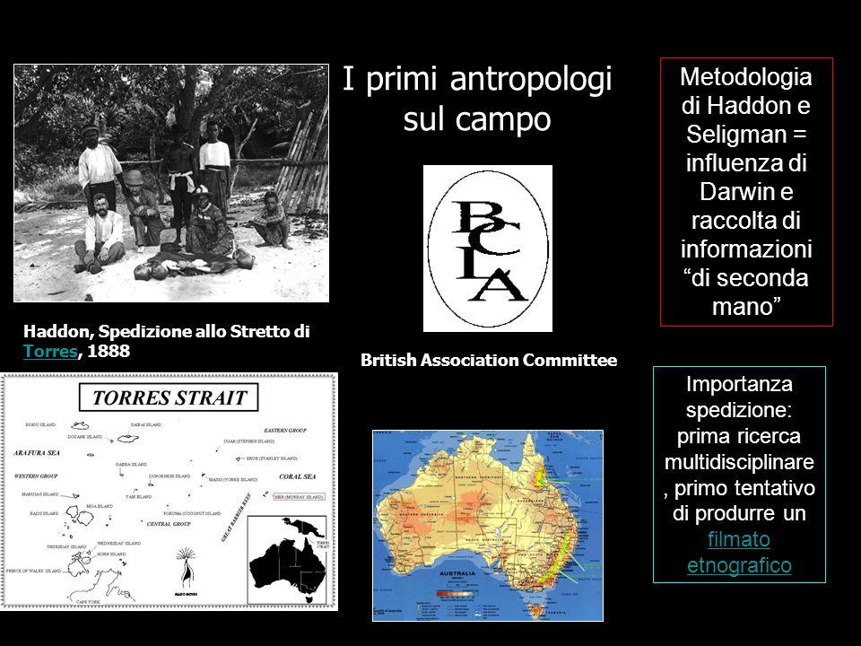 I primi antropologi sul campo