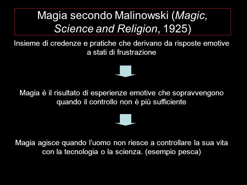 Magia secondo Malinowski (Magic, Science and Religion, 1925)
