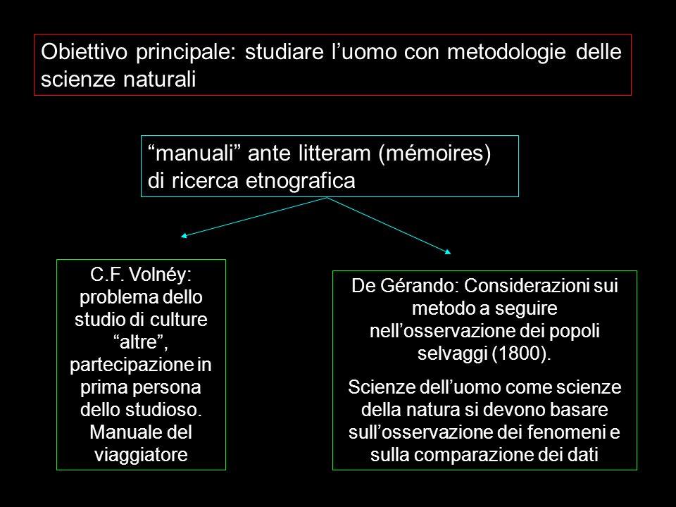 manuali ante litteram (mémoires) di ricerca etnografica