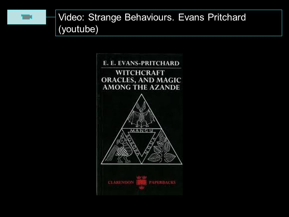 Video: Strange Behaviours. Evans Pritchard (youtube)