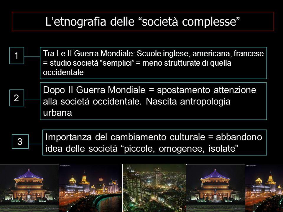 L'etnografia delle società complesse