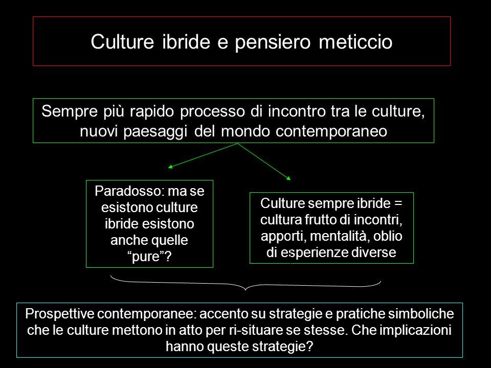 Culture ibride e pensiero meticcio