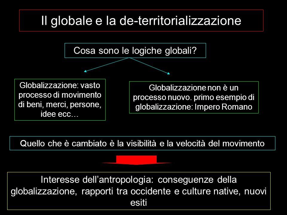 Il globale e la de-territorializzazione