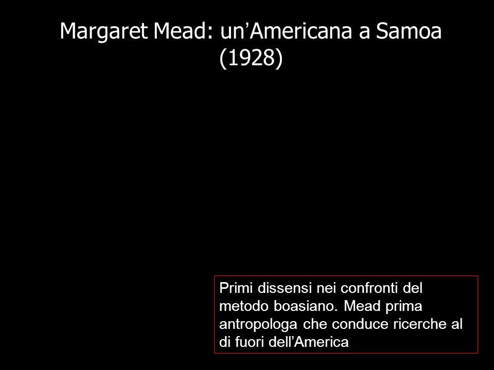 Margaret Mead: un'Americana a Samoa (1928)