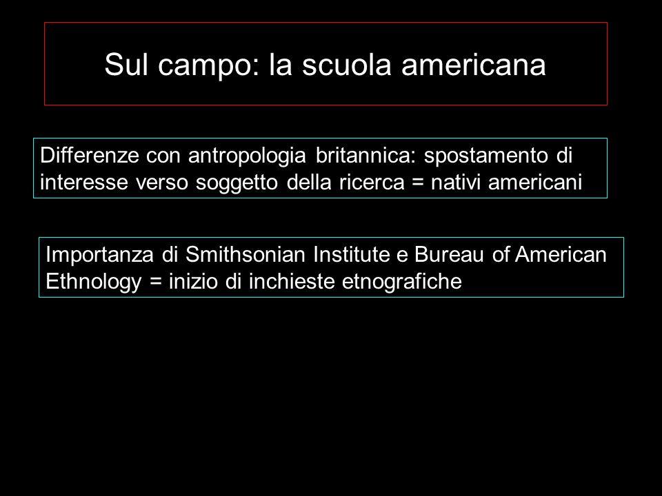 Sul campo: la scuola americana