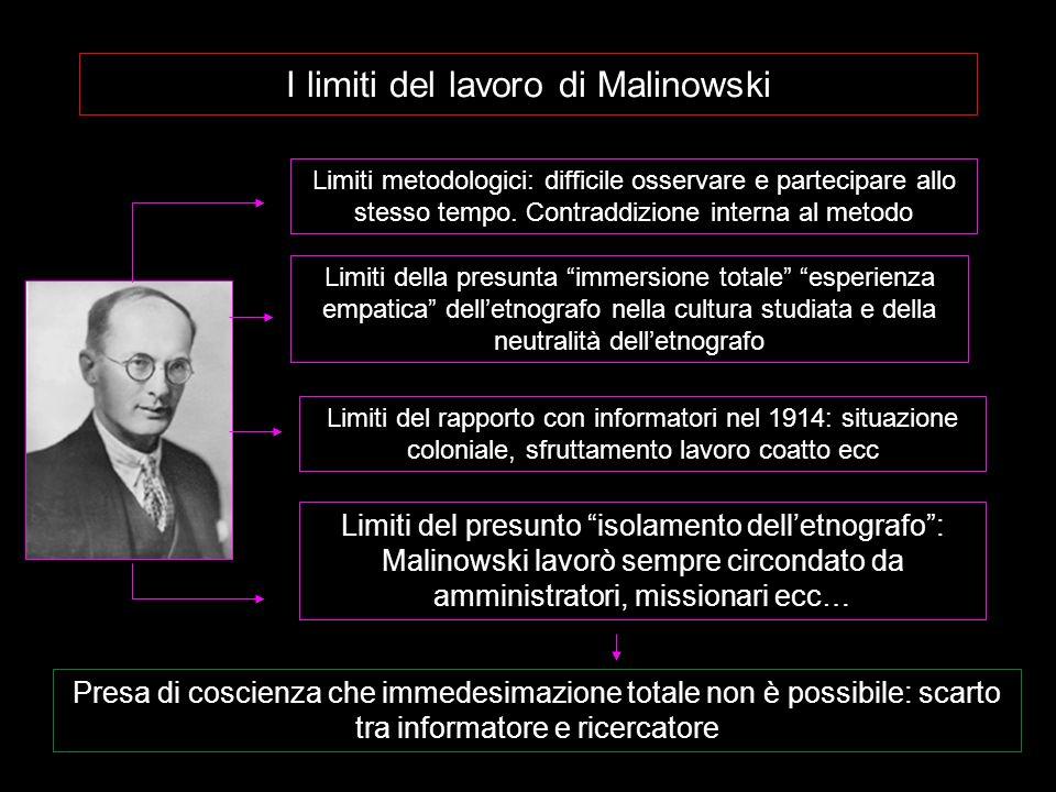 I limiti del lavoro di Malinowski
