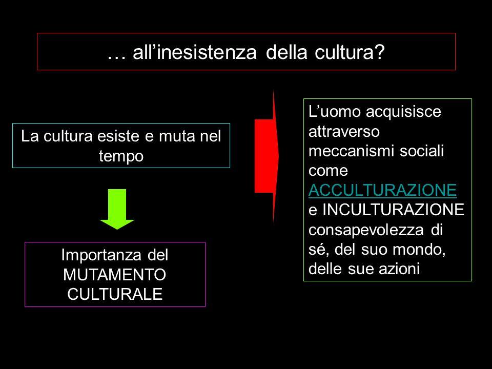 … all'inesistenza della cultura