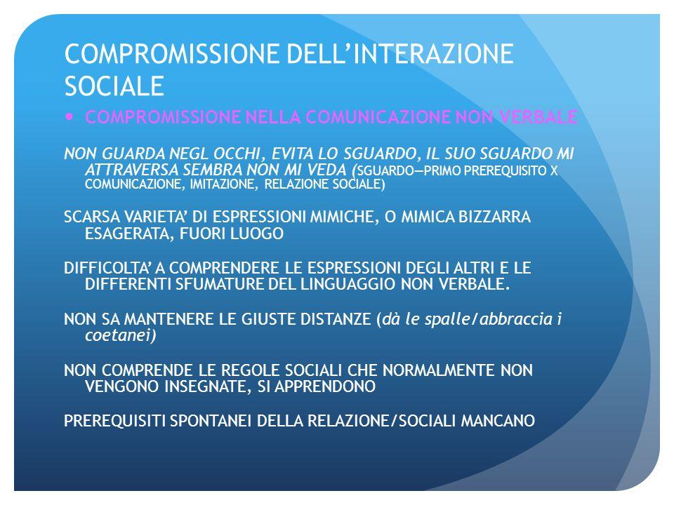 COMPROMISSIONE DELL'INTERAZIONE SOCIALE