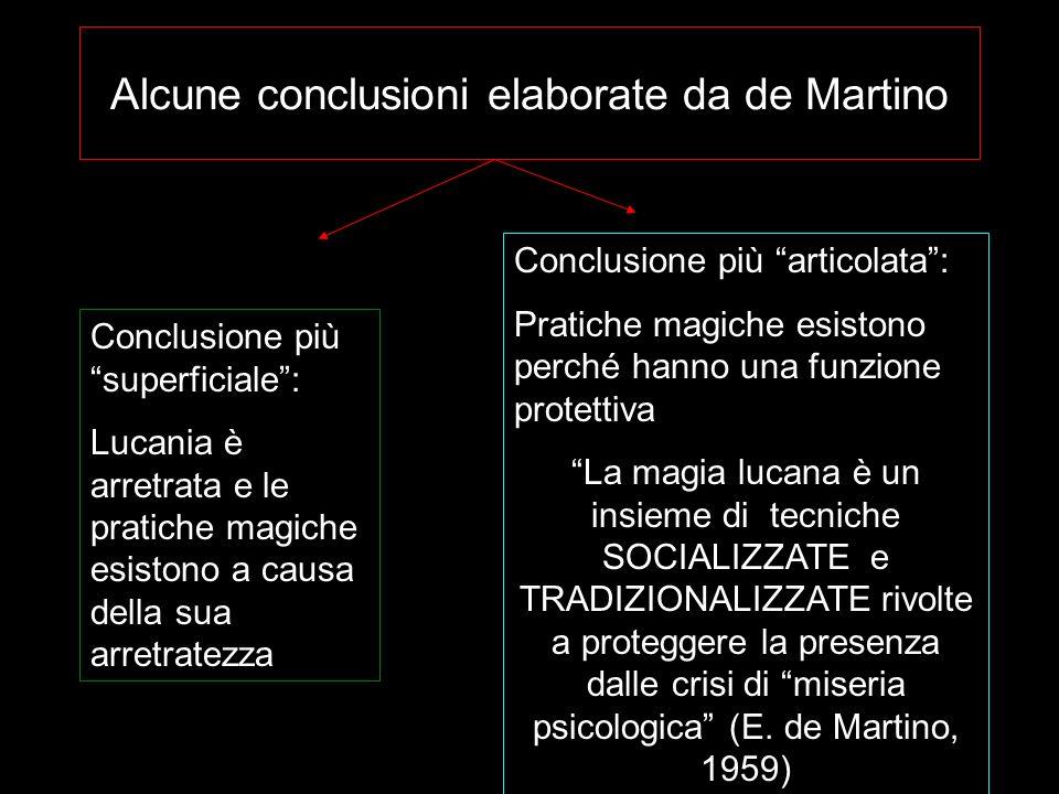 Alcune conclusioni elaborate da de Martino