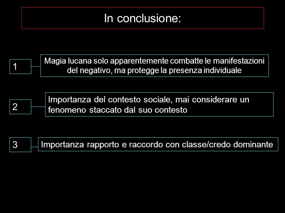 In conclusione: Magia lucana solo apparentemente combatte le manifestazioni del negativo, ma protegge la presenza individuale.