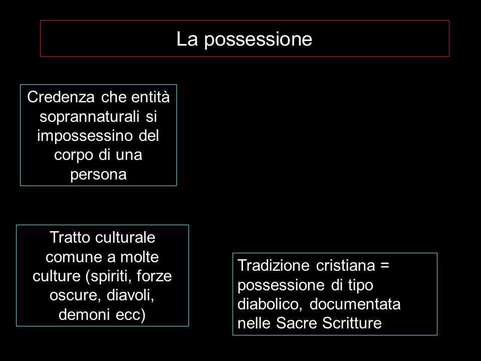 La possessioneCredenza che entità soprannaturali si impossessino del corpo di una persona.
