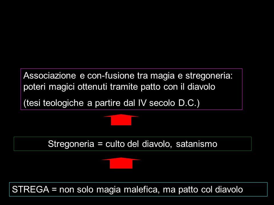 Stregoneria = culto del diavolo, satanismo