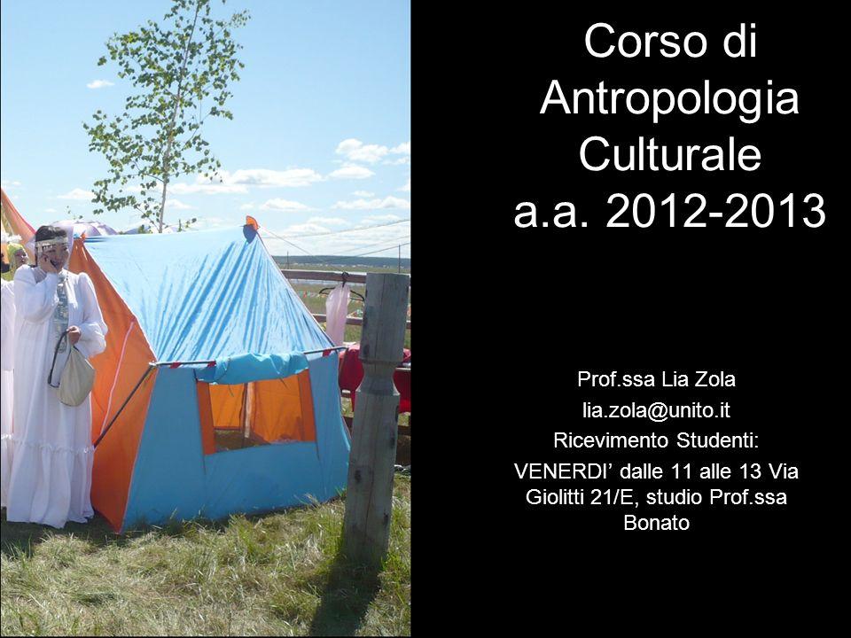 Corso di Antropologia Culturale a.a. 2012-2013