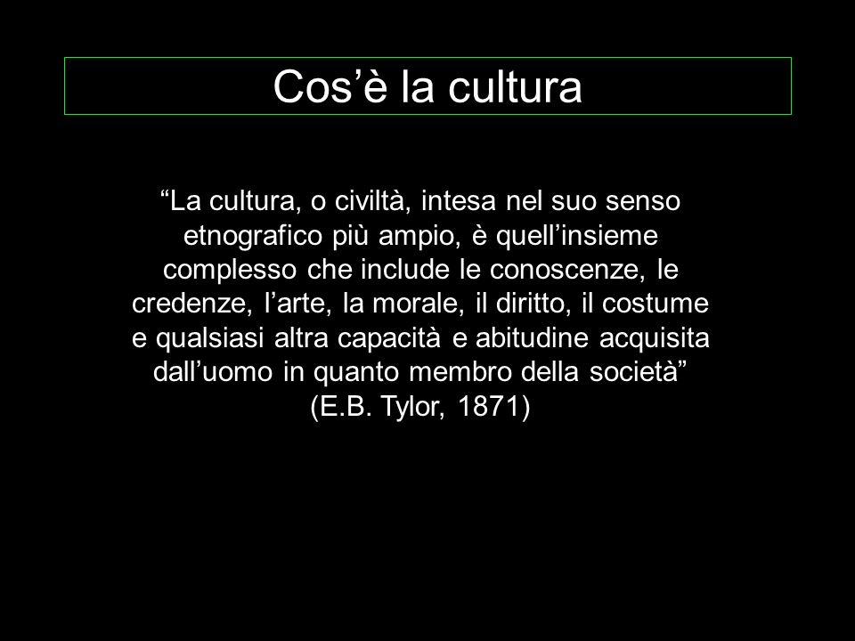 Cos'è la cultura