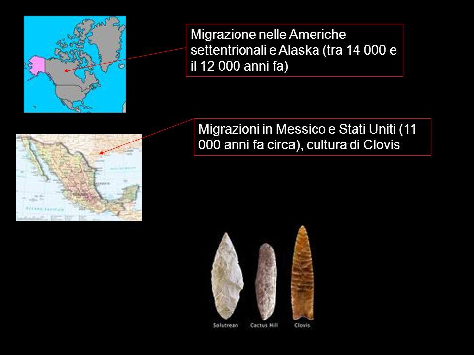 Migrazione nelle Americhe settentrionali e Alaska (tra 14 000 e il 12 000 anni fa)