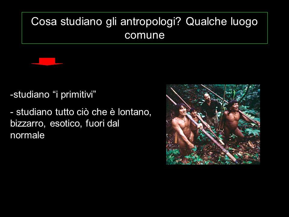 Cosa studiano gli antropologi Qualche luogo comune