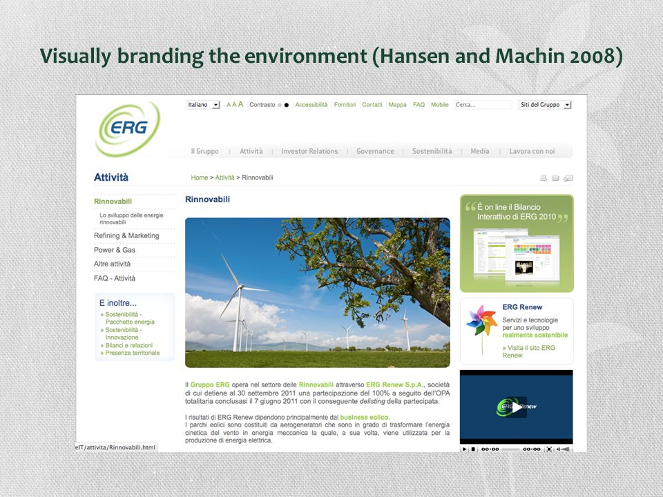 Visually branding the environment (Hansen and Machin 2008)