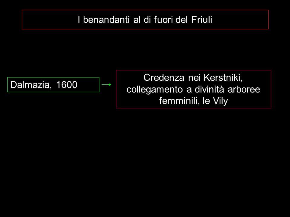 I benandanti al di fuori del Friuli