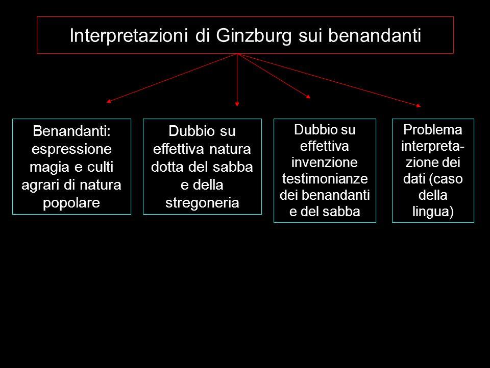 Interpretazioni di Ginzburg sui benandanti