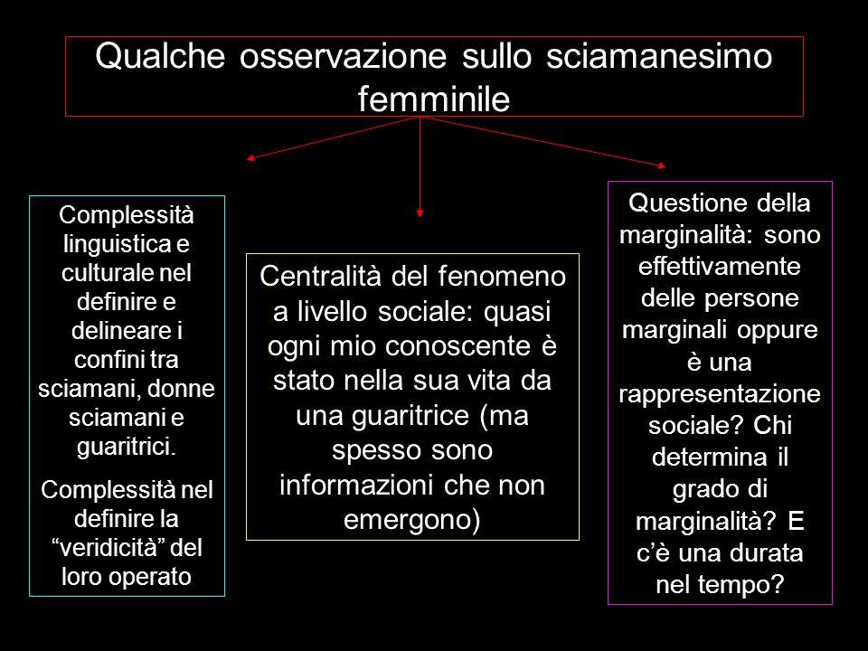 Qualche osservazione sullo sciamanesimo femminile