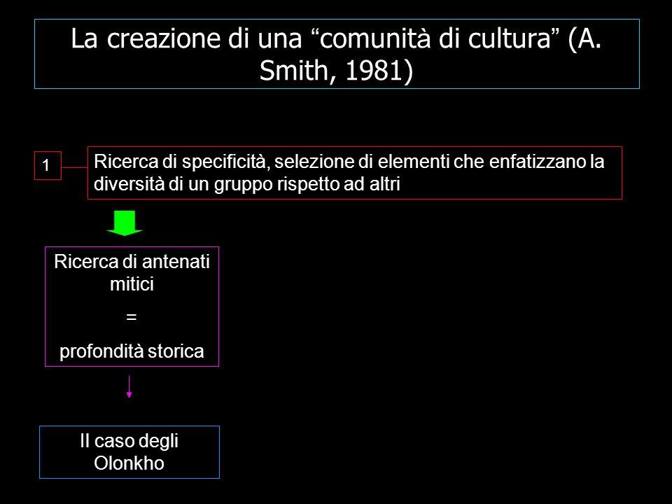 La creazione di una comunità di cultura (A. Smith, 1981)