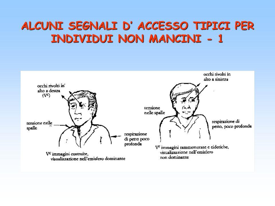 ALCUNI SEGNALI D' ACCESSO TIPICI PER INDIVIDUI NON MANCINI - 1