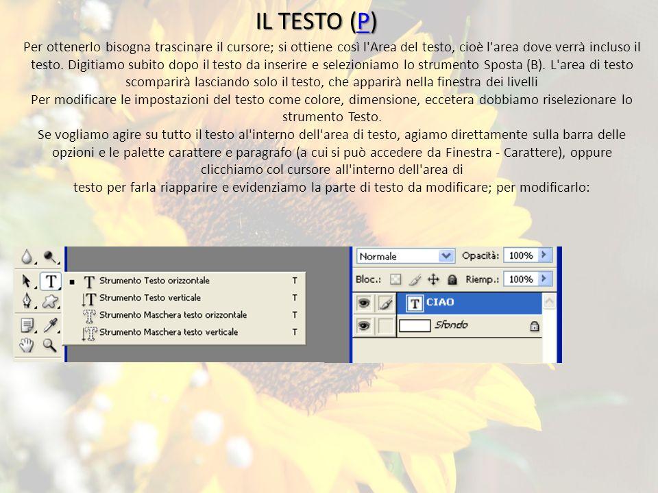 Cenni di photoshop photoshop un programma specializzato nell elaborazione di fotografie - Testo a finestra ...
