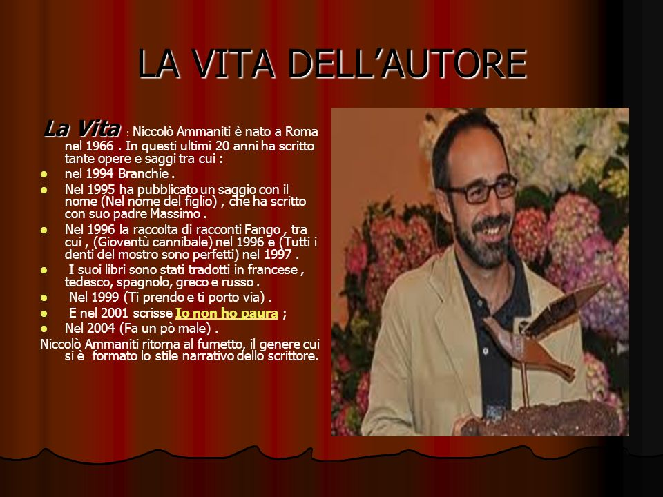 LA VITA DELL'AUTORE nel 1994 Branchie .