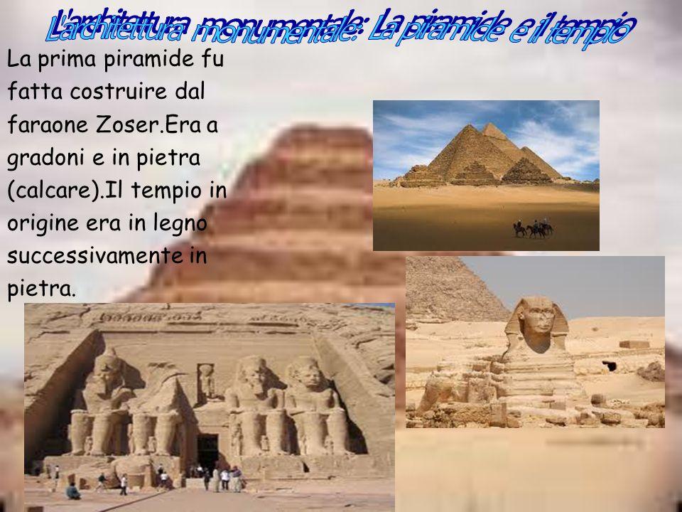 L architettura monumentale: La piramide e il tempio