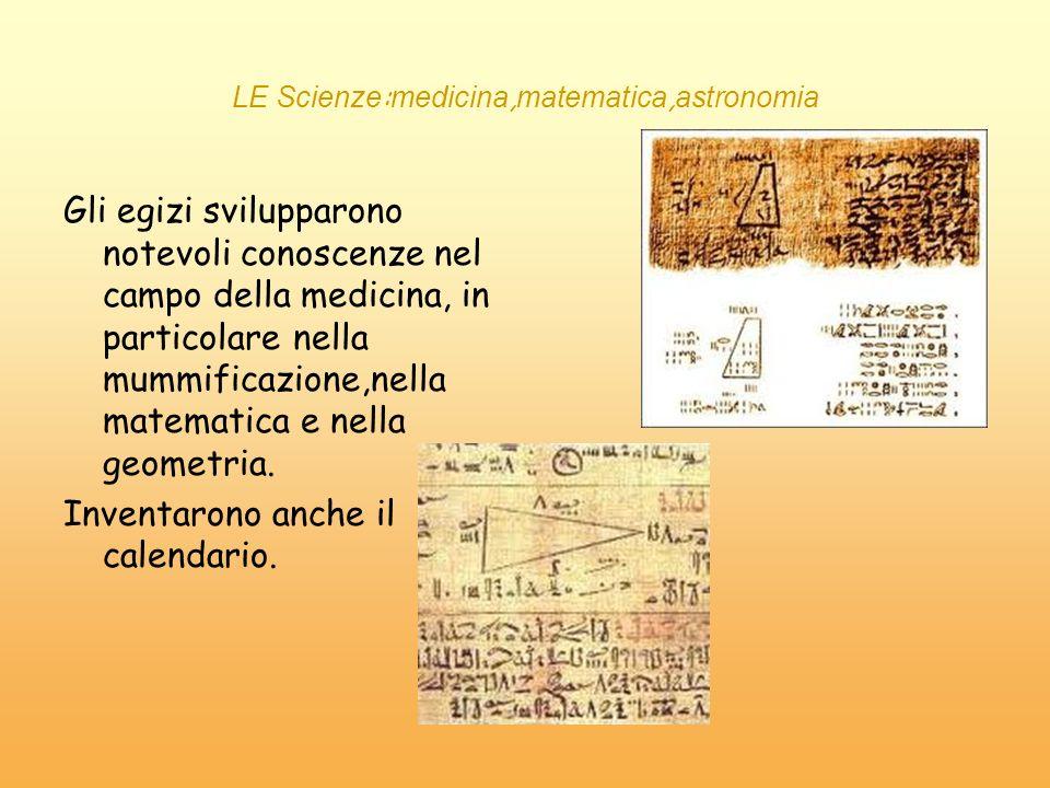 LE Scienze:medicina,matematica,astronomia